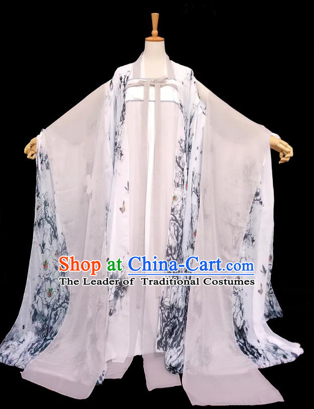 Chinese Tang Dynasty Taoist Nun Hanfu Dress Ancient Fairy Traditional Costume for Women