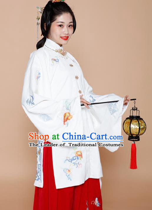 Chinese Traditional Ming Dynasty Dowager Dress Ancient Nobility Countess Embroidered Clothing for Women