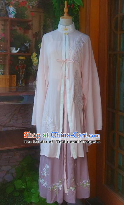 Chinese Traditional Ming Dynasty Princess Hanfu Dress Ancient Nobility Lady Embroidered Clothing for Women