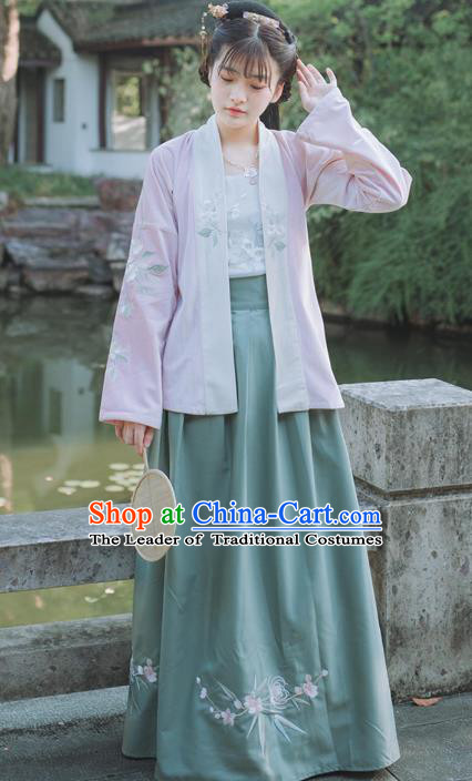 Chinese Traditional Song Dynasty Nobility Lady Costumes Ancient Court Maid Clothing for Women