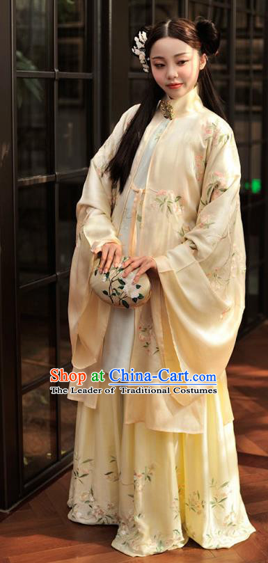 Chinese Ancient Nobility Lady Costumes Traditional Ming Dynasty Princess Embroidered Hanfu Dress for Women