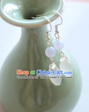 Chinese Ancient Handmade Earrings Accessories Hanfu Magnolia Flower Eardrop for Women