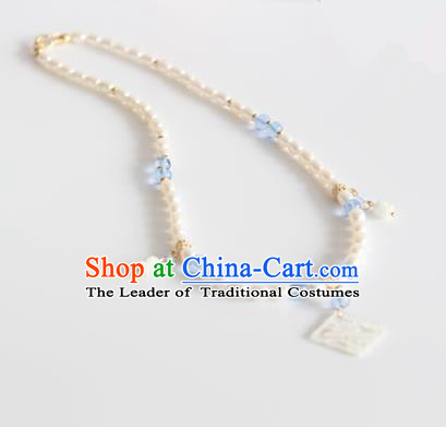 Chinese Ancient Handmade Hanfu Accessories Pearls Necklace for Women
