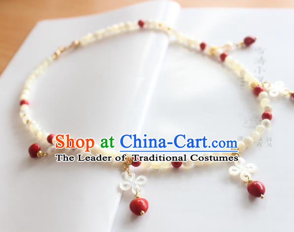 Chinese Ancient Handmade Hanfu Accessories Necklace for Women