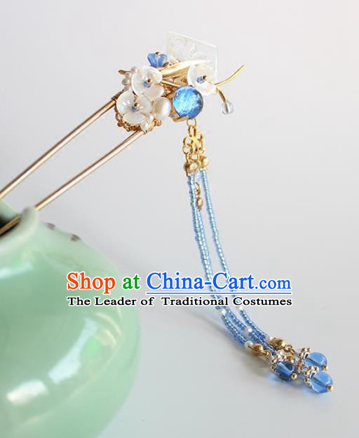 Chinese Ancient Handmade Classical Orchid Hair Clip Hair Accessories Hanfu Hairpins for Women