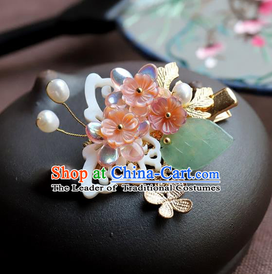 Chinese Ancient Handmade Classical Shell Hair Claw Hair Accessories Hanfu Hairpins for Women