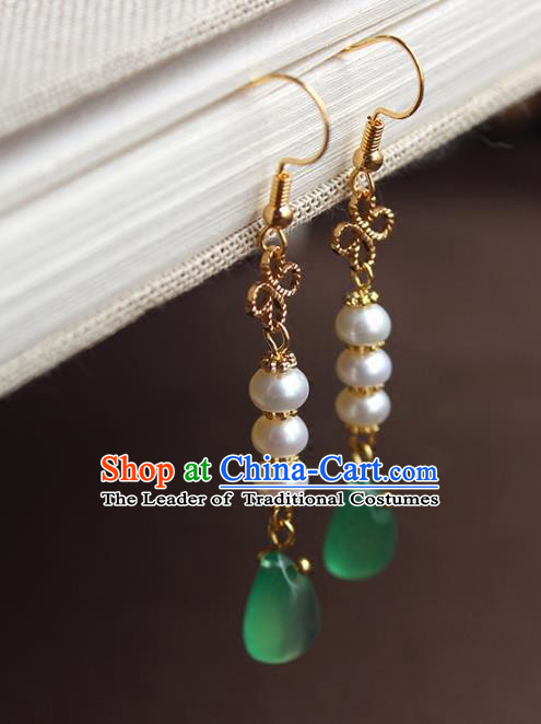 Chinese Ancient Handmade Hanfu Accessories Tassel Earrings for Women