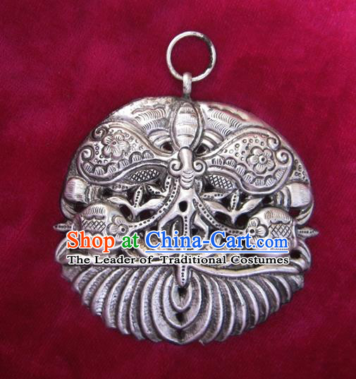 Chinese Miao Nationality Ornaments Traditional Hmong Handmade Necklace Pendant for Women