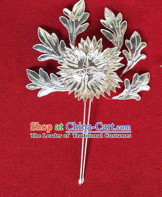 Chinese Traditional Miao Nationality Chrysanthemum Hair Accessories Hairpins Headwear for Women