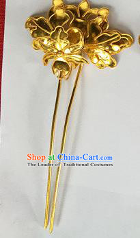 Chinese Traditional Miao Nationality Golden Hair Clip Hair Accessories Hairpins Headwear for Women