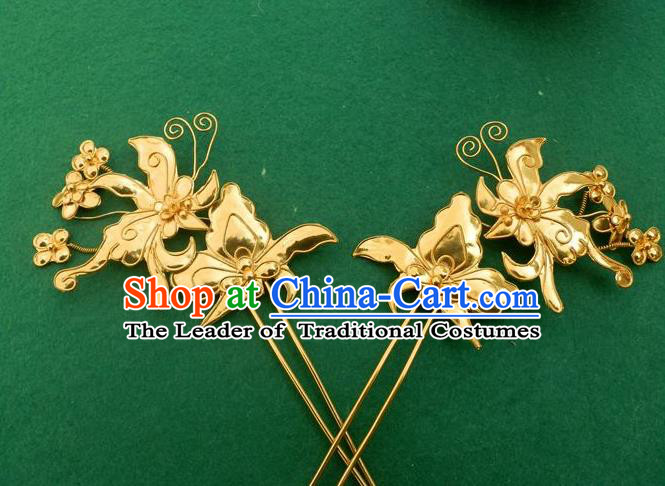 Chinese Traditional Miao Nationality Hair Clip Hair Accessories Hairpins Headwear for Women
