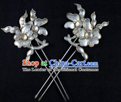 Traditional Chinese Miao Nationality Hanfu Butterfly Flower Hairpins Hair Accessories for Women