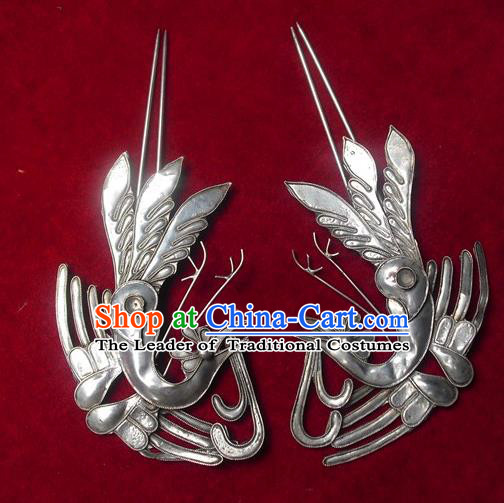 Traditional Chinese Miao Nationality Phoenix Hairpins Hair Accessories for Women