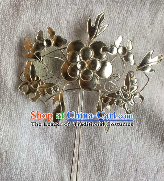 Traditional Chinese Miao Nationality Butterfly Flowers Hairpins Hair Accessories for Women