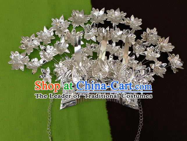 Traditional Chinese Miao Nationality Wedding Hair Comb Hairpins Hair Accessories for Women