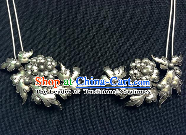 Traditional Chinese Miao Nationality Hair Accessories Flowers Hair Clips Hairpins for Women