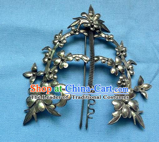 Chinese Traditional Miao Nationality Hair Accessories Hairpins Wedding Headwear for Women