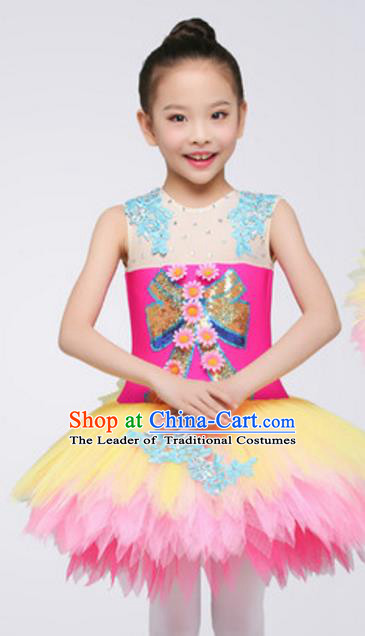 Top Grade Modern Dance Ballet Dance Dress Stage Performance Chorus Costume for Kids