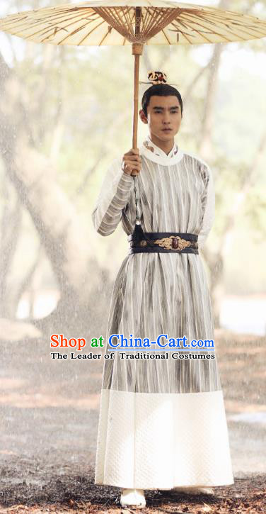 Chinese Ancient Crown Prince Clothing Legend of Fu Yao Nobility Childe Zhangsun Wuji Replica Costume for Men