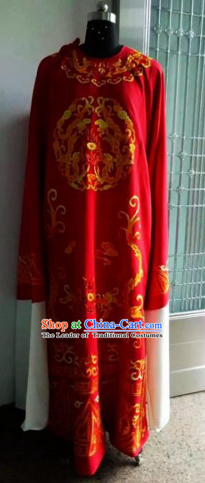 Chinese Traditional Beijing Opera Young Men Costumes China Peking Opera Niche Printing Dragon Robe for Adults
