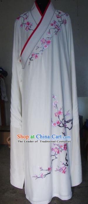 Chinese Traditional Beijing Opera Niche Costumes China Peking Opera Embroidered Plum Blossom Robe for Adults