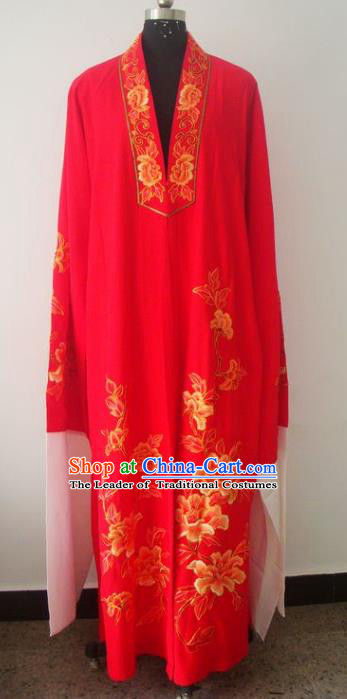 Chinese Traditional Beijing Opera Young Men Costumes China Peking Opera Niche Printing Silk Robe for Adults