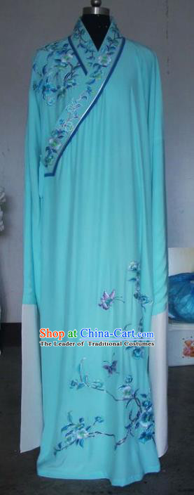 Chinese Traditional Beijing Opera Niche Costumes China Peking Opera Embroidered Peony Robe for Adults