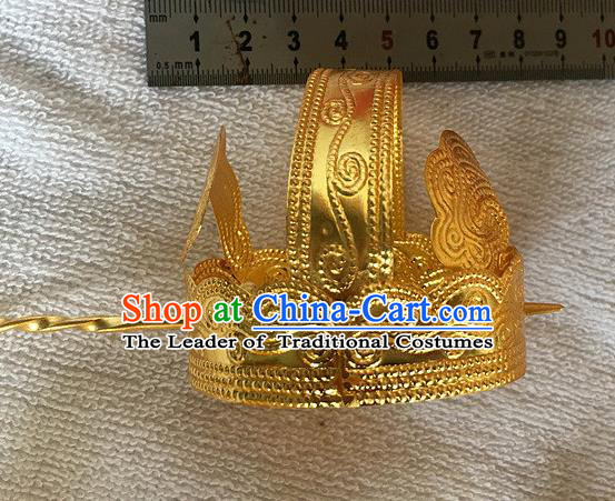 Chinese Traditional Ancient Prince Hairdo Crown Hairpins Hair Accessories for Men