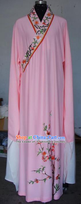 Chinese Traditional Beijing Opera Scholar Costumes Niche Embroidered Pink Robe for Adults