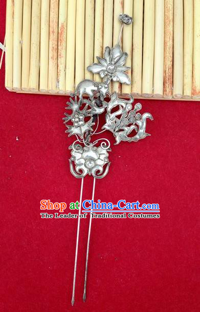 Chinese Traditional Miao Nationality Hairpins Hair Accessories Headwear for Women