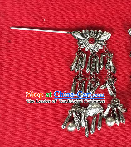 Chinese Traditional Ancient Bride Tassel Hair Clip Hanfu Hairpins Hair Accessories for Women