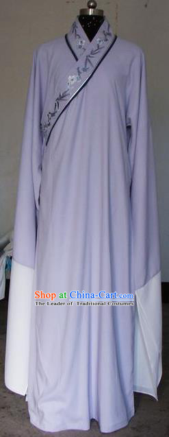 Chinese Traditional Shaoxing Opera Scholar Purple Robe Peking Opera Niche Costumes for Adults