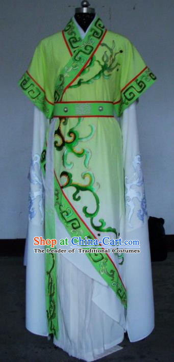 Chinese Traditional Shaoxing Opera Princess Green Robe Peking Opera Niche Costumes for Adults