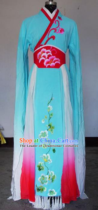 Chinese Traditional Beijing Opera Actress Green Costumes China Peking Opera Embroidered Dress for Adults