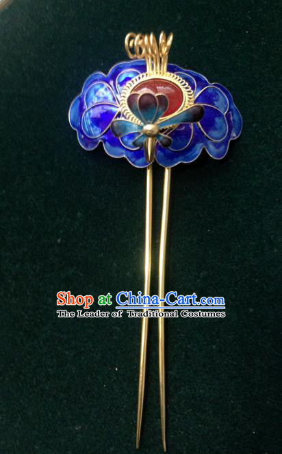 Chinese Traditional Ancient Cloisonne Hairpins Hair Accessories Hair Clip for Women