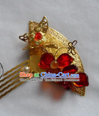 Chinese Traditional Hair Accessories Ancient Bride Hairpins Hair Comb for Women
