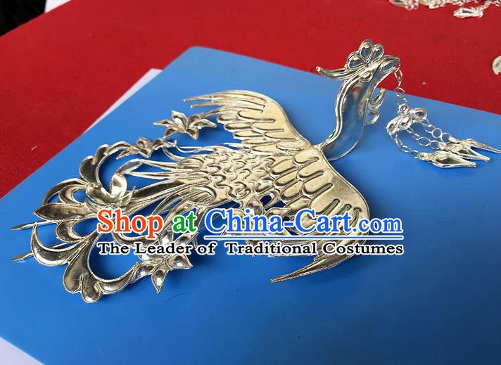 Chinese Traditional Ancient Bride Frontlet Hair Clip Hanfu Hairpins Hair Accessories for Women