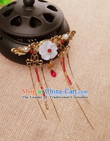 Chinese Traditional Hair Accessories Ancient Bride Hairpins Golden Hair Comb for Women