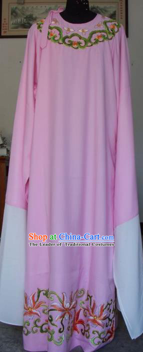 Chinese Traditional Shaoxing Opera Scholar Pink Clothing Peking Opera Niche Embroidered Costumes for Adults