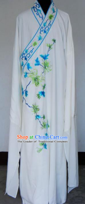 Chinese Traditional Shaoxing Opera Niche Robe Clothing Peking Opera Scholar Embroidered Chrysanthemum Costume for Adults
