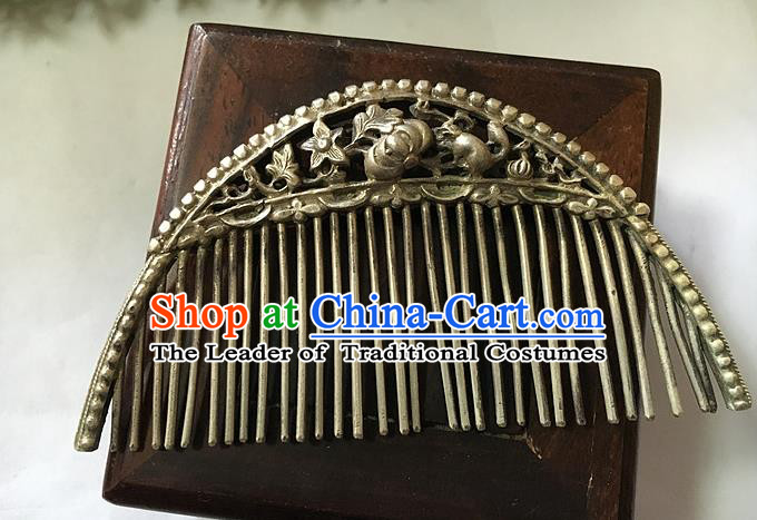Chinese Traditional Ancient Hairpins Hair Accessories Carving Hair Comb for Women