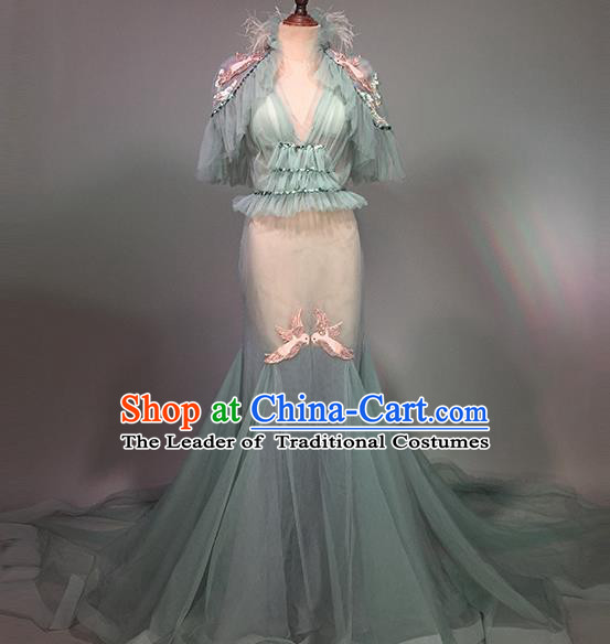 Top Grade Stage Performance Customized Costume Models Catwalks Mermaid Dress for Women