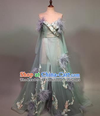 Top Grade Stage Performance Customized Costume Models Catwalks Full Dress for Women