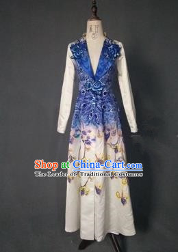 Top Grade Compere Stage Performance Customized Costume Models Catwalks Dress for Women