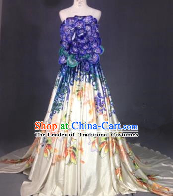 Top Grade Compere Stage Performance Costume Models Catwalks Customized Dress for Women