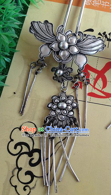 Chinese Traditional Ancient Butterfly Tassel Hairpins Hair Accessories Hair Clip for Women
