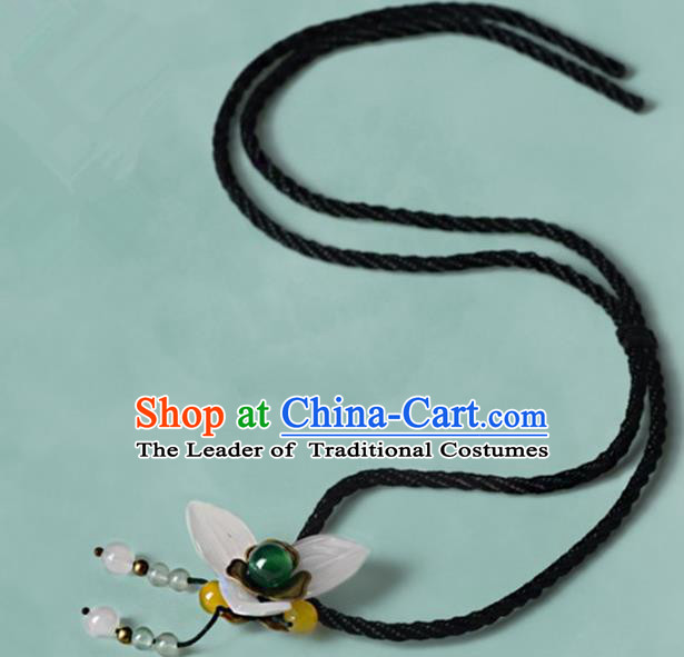 Chinese Traditional Jewelry Accessories Ancient Palace Hanfu Flower Necklace for Women
