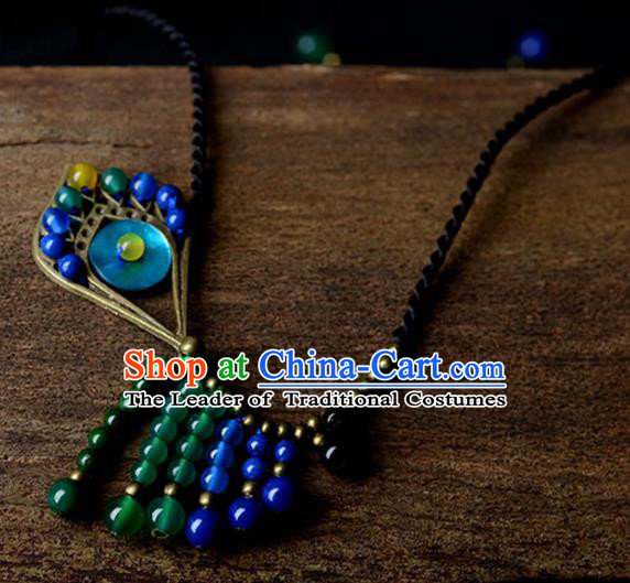 Chinese Traditional Jewelry Accessories Ancient Palace Hanfu Necklace for Women