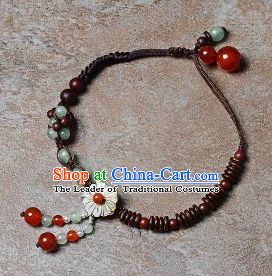 Chinese Traditional Jewelry Accessories Ancient Palace Hanfu Anklets for Women