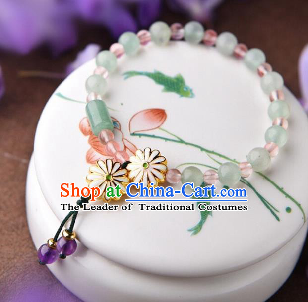 Chinese Traditional Jewelry Accessories Ancient Palace Hanfu Bracelet Chain for Women